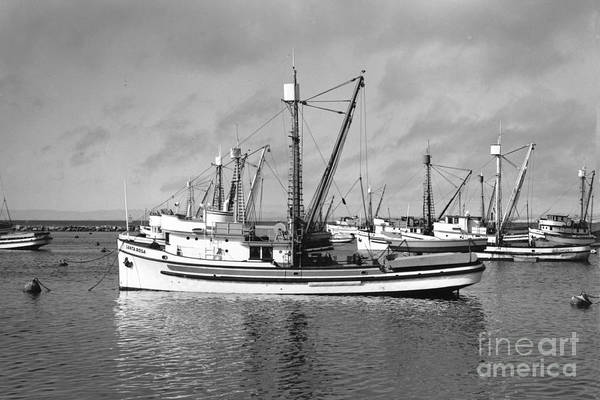 Photograph - Santa Rosa In Monterey Harbor Circa 1948 by California Views Archives Mr Pat Hathaway Archives