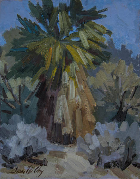 Wall Art - Painting - Santa Rosa Mountains Palm Tree by Diane McClary