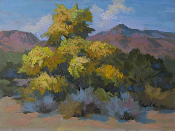 Wall Art - Painting - Santa Rosa Palo Verde by Diane McClary