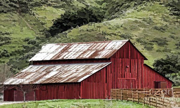 Photograph - Santa Rosa Rd Barn by Kathleen Gauthier