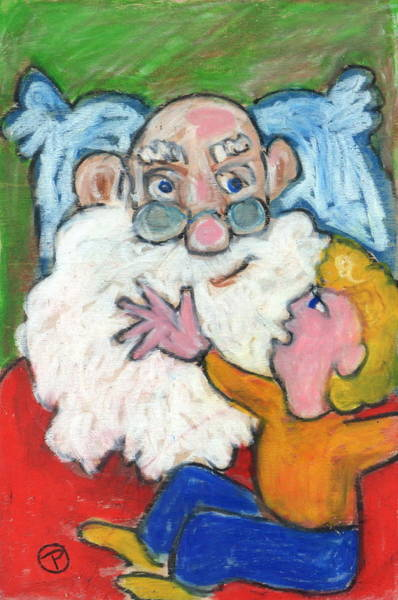 Painting - Santa  by Todd  Peterson