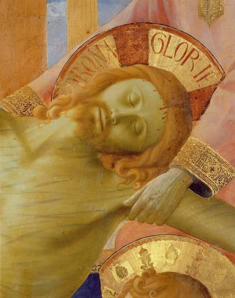 Sacrifice Painting - Santa Trinita Altarpiece by Fra Angelico