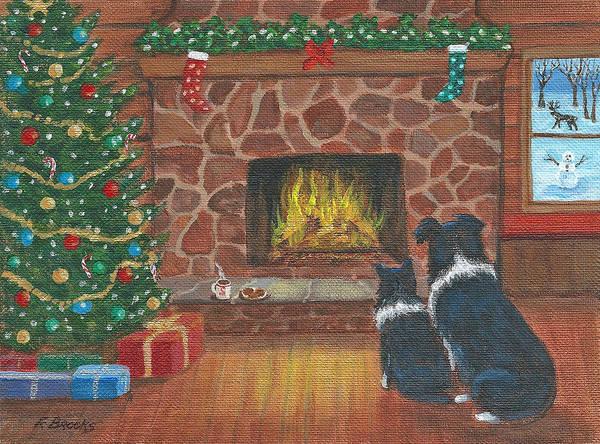 Painting - Santa Watch by Fran Brooks