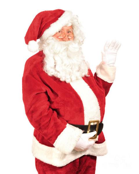 Jolly Holiday Photograph - Santa Waving by Amanda Elwell