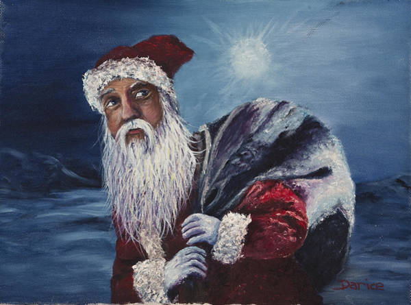 Painting - Santa With His Pack by Darice Machel McGuire