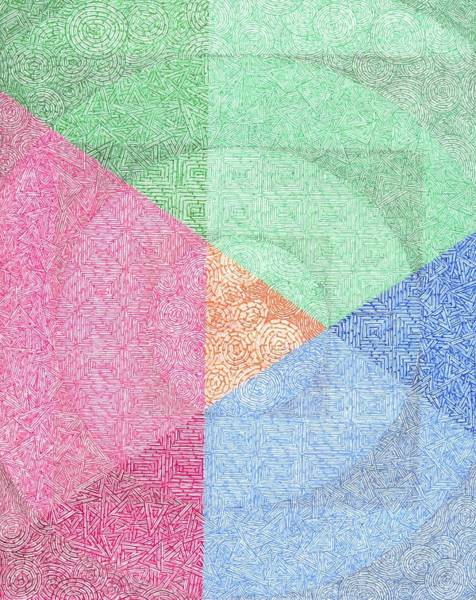 Dark Pink Drawing - Santanic Rituals by William Burns
