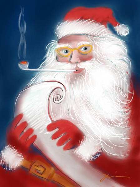 Painting - Santa's List by Jean Pacheco Ravinski