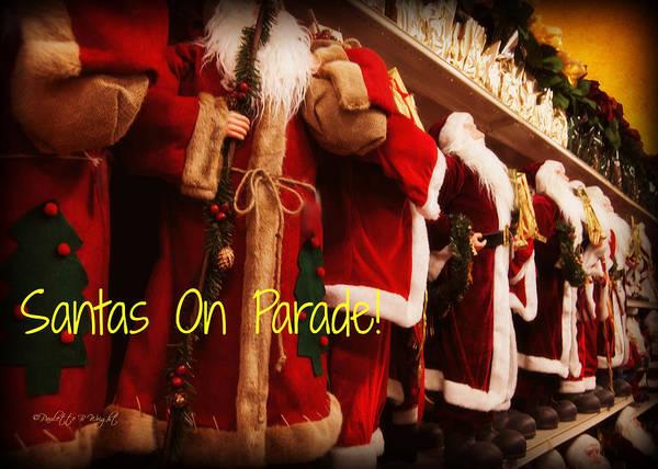 Photograph - Santas On Parade by Paulette B Wright