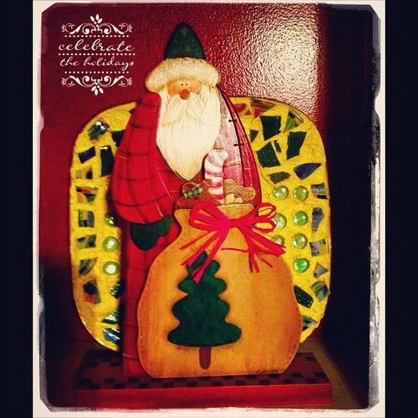 Holiday Wall Art - Photograph - Santa's Sack Is Getting Full! #santa by Teresa Mucha