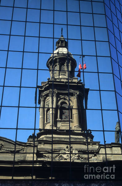 Photograph - Santiago Reflections by James Brunker