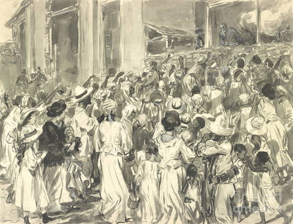 Wall Art - Photograph - Santiago Refugees 1898 by Padre Art