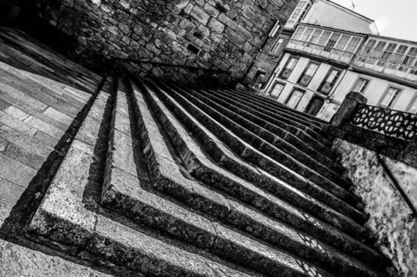 Galicia Photograph - Santiago Steps by Justin Murazzo
