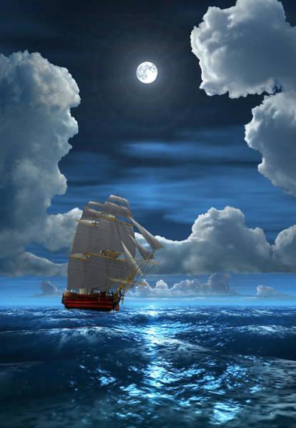 Digital Art - Santisima Trinida In The Moonlight 2 by Duane McCullough