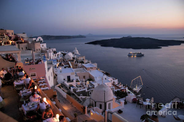 Historic Site Photograph - Santorini At Dusk by David Smith