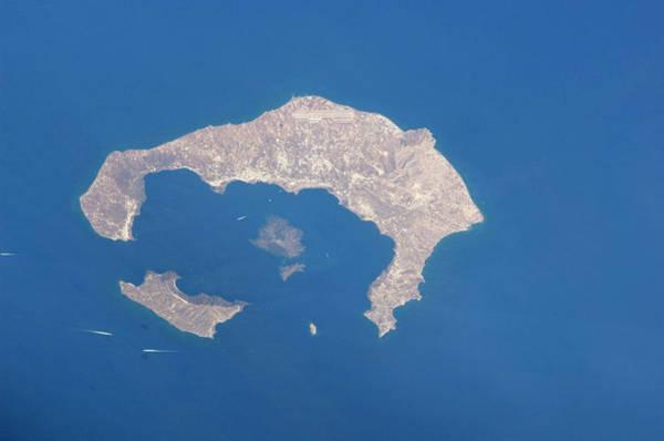 Earth Observation Wall Art - Photograph - Santorini Caldera by Nasa