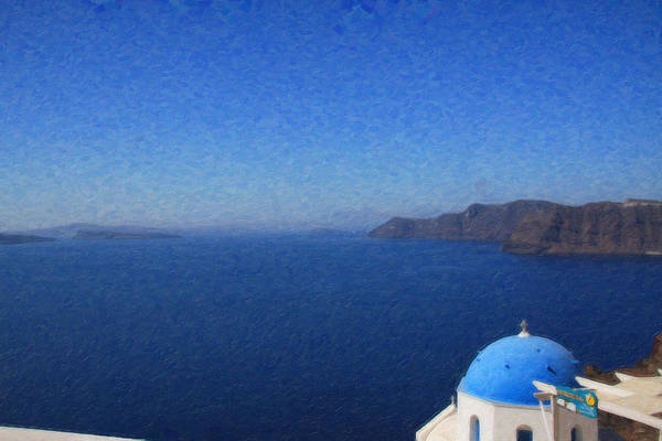 Painting - Santorini Grk1113 by Dean Wittle