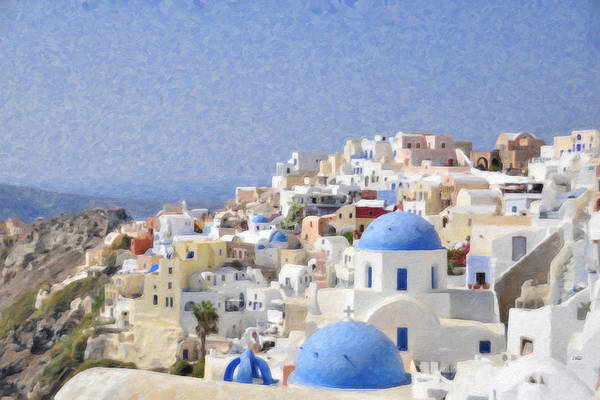 Painting - Santorini Grk1692 by Dean Wittle