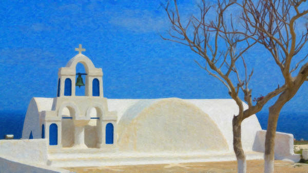 Painting - Santorini Grk2805 by Dean Wittle