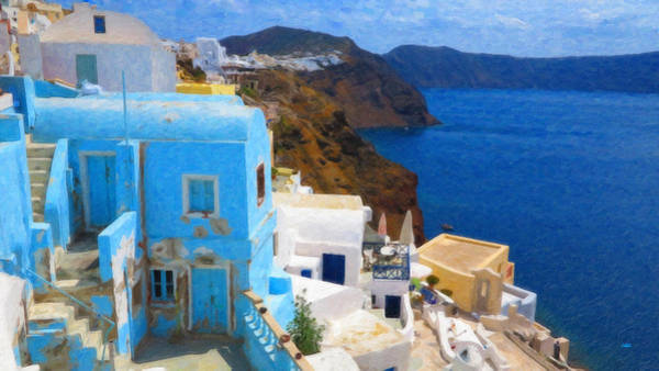 Painting - Santorini Grk2806 by Dean Wittle