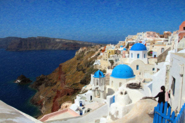 Painting - Santorini Grk3602 by Dean Wittle