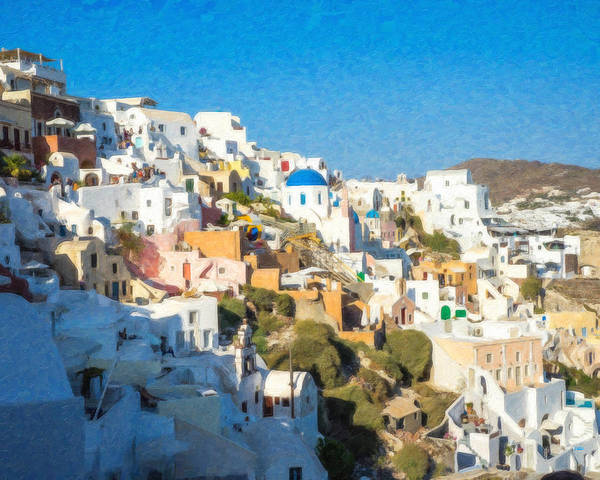 Painting - Santorini Grk4119 by Dean Wittle