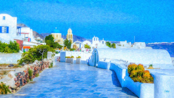 Painting - Santorini Grk4120 by Dean Wittle