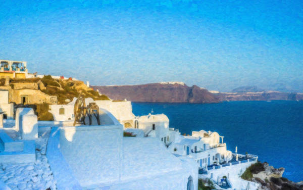 Painting - Santorini Grk4163 by Dean Wittle