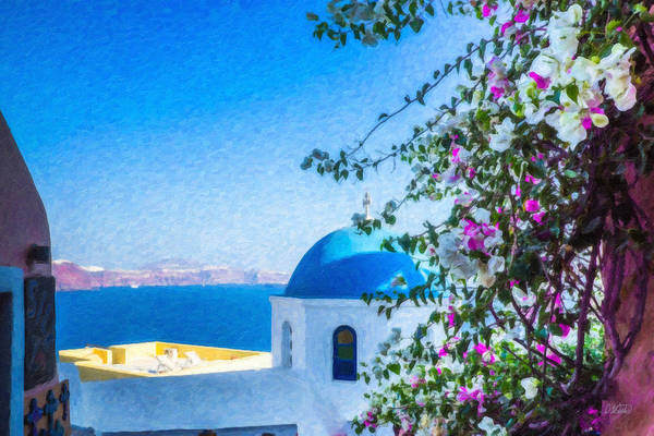 Painting - Santorini Grk4166 by Dean Wittle