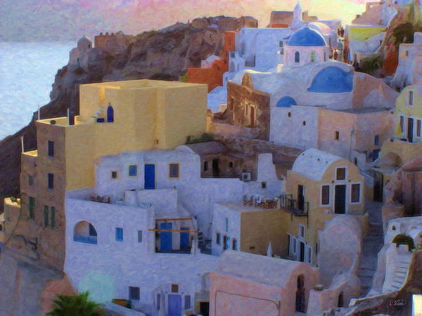 Painting - Santorini Grk6424 by Dean Wittle