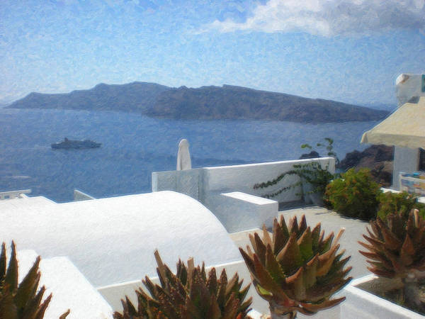Painting - Santorini Grk8032 by Dean Wittle