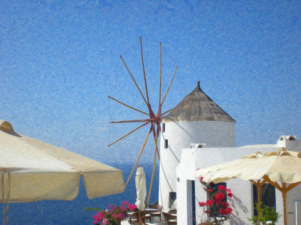 Painting - Santorini Grk8034 by Dean Wittle