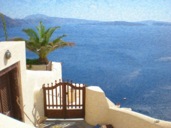 Painting - Santorini Grk8037 by Dean Wittle