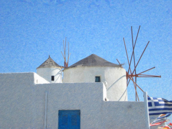 Painting - Santorini Grk8038 by Dean Wittle