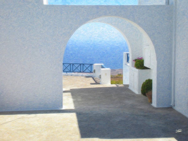 Painting - Santorini Grk8681 by Dean Wittle