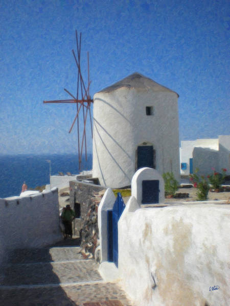 Painting - Santorini Grk8684 by Dean Wittle