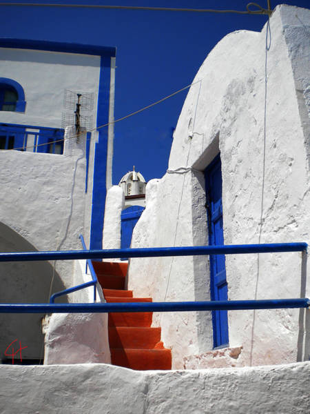 Photograph - Santorini  Island Blue And White by Colette V Hera  Guggenheim