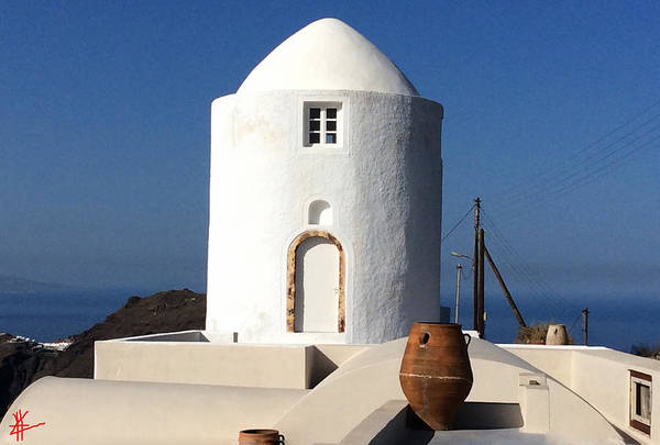 Photograph - Santorini Island View Greece by Colette V Hera  Guggenheim