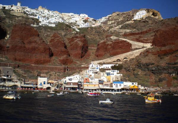 Santorini  Island  View To Oia Greece Art Print