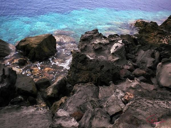 Photograph - Santorini Oceon Swim Dive  Greek Islands. by Colette V Hera  Guggenheim