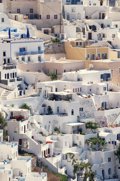 Villa Photograph - Santorini Oia Village Close Up Vertical by Peskymonkey