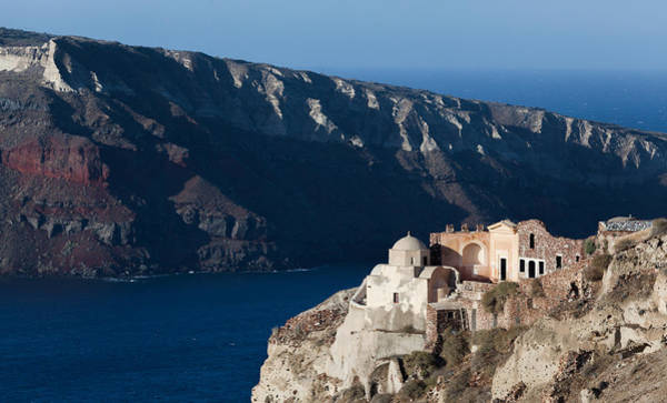 Photograph - Santorini Outpost by Brian Grzelewski