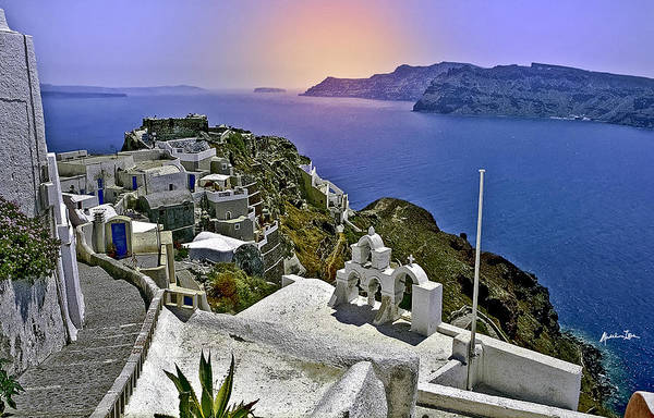 Wall Art - Photograph - Santorini Overview by Madeline Ellis