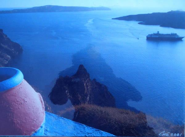 Photograph - Santorini  Spirit Shadow Greece by Colette V Hera  Guggenheim