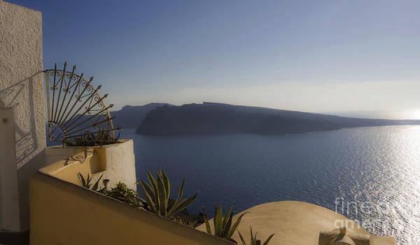 Photograph - Santorini View 24x14 by Leslie Leda