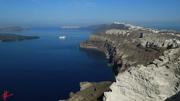 Photograph - Santorini View October 2014 Greece by Colette V Hera  Guggenheim