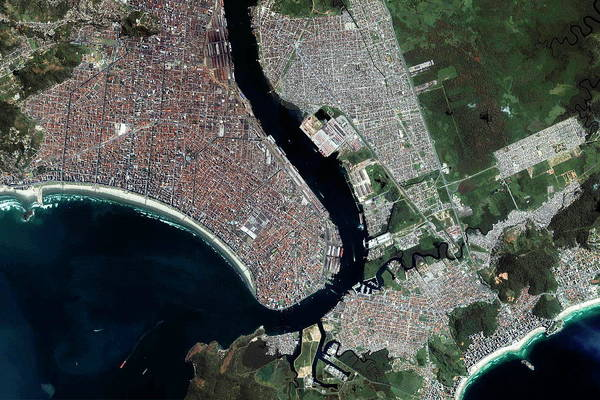 Santos Wall Art - Photograph - Santos by Geoeye/science Photo Library