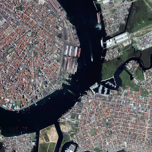 Santos Wall Art - Photograph - Santos Port by Geoeye/science Photo Library
