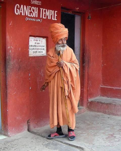 Photograph - Sanyasi At The Ganesh Temple by Kim Bemis