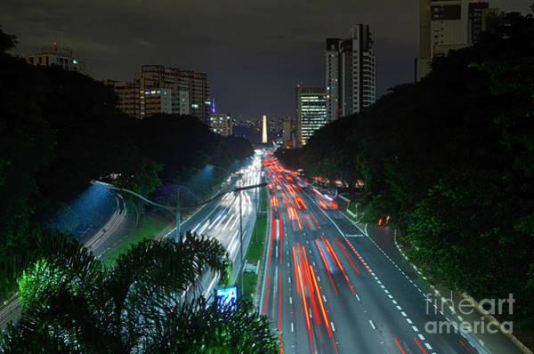 Photograph - Sao Paulo - 23 De Maio Expressway And Ibirapuera Obelisk - All by Carlos Alkmin