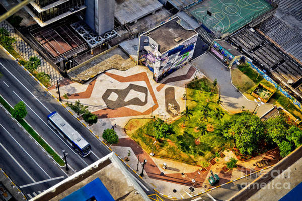 Photograph - Sao Paulo Downtown - Geometry Of Public Spaces by Carlos Alkmin